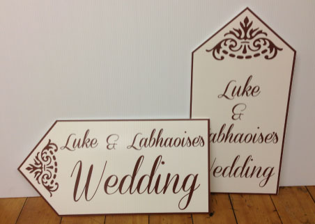 Wedding Road Signs Ivory