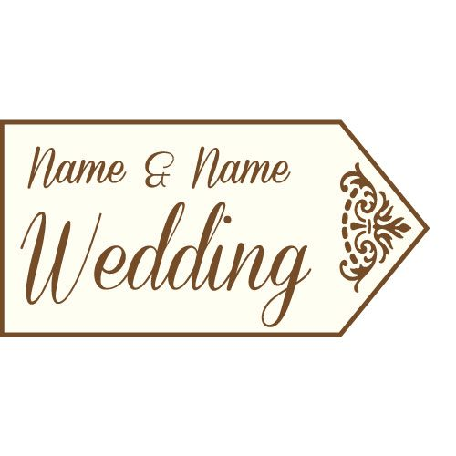Wedding Road Sign - Ivory