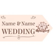 Wedding Road Sign - Lovebirds
