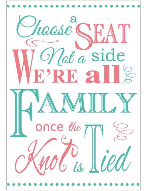 Choose A Seat Sign - Colour
