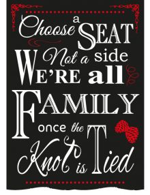 Choose A Seat Sign - Winter Red