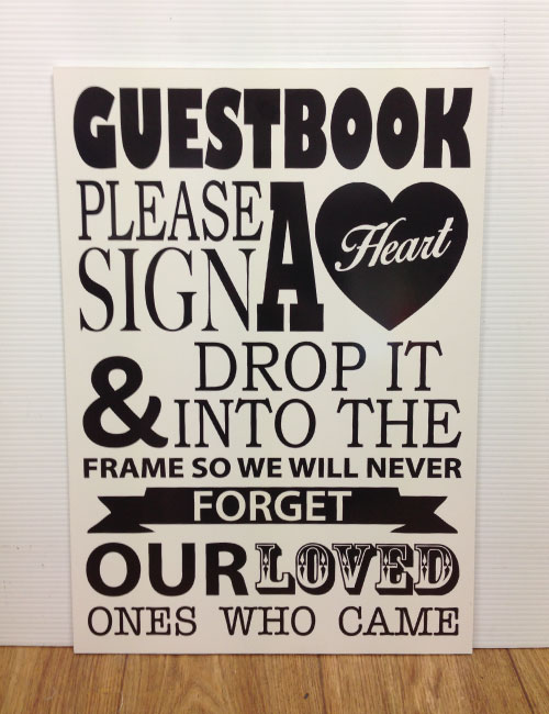 Guestbook Heart Sign - Ivory