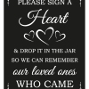 Sign A Heart Sign - Black