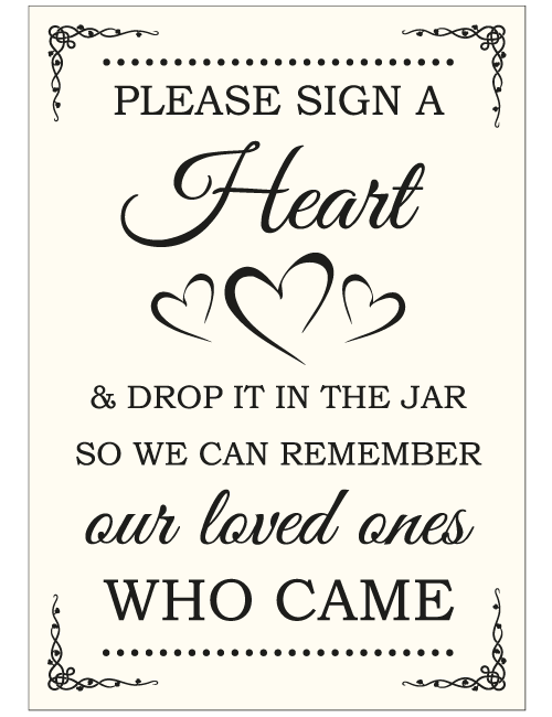Sign A Heart Sign - Ivory
