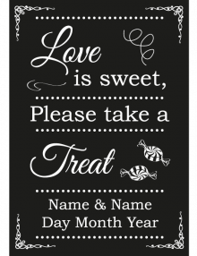 Sweet Treat Sign - Black