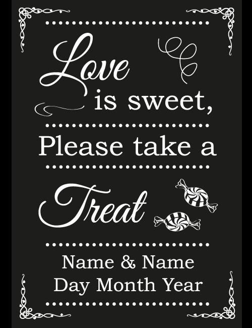 Sweet Treat Sign - Black