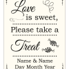 Sweet Treat Sign - Ivory