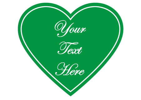 Wedding Sign - Green Heart