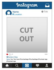 Instagram Frames Ireland Instagram Frame Prop Social Media Frames