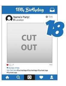 instagram cutout frame