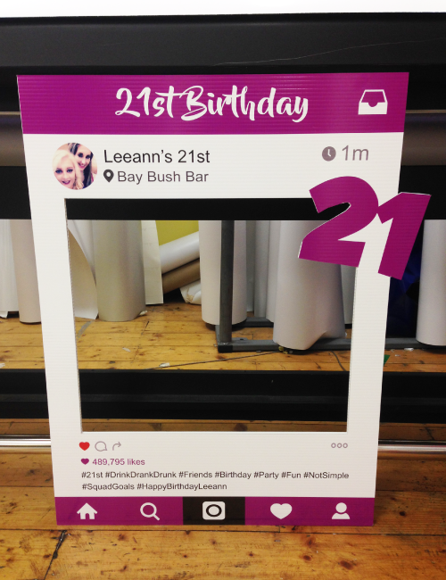 Instagram Frame 21st Birthday