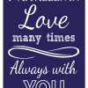 I've Fallen In Love Sign Navy