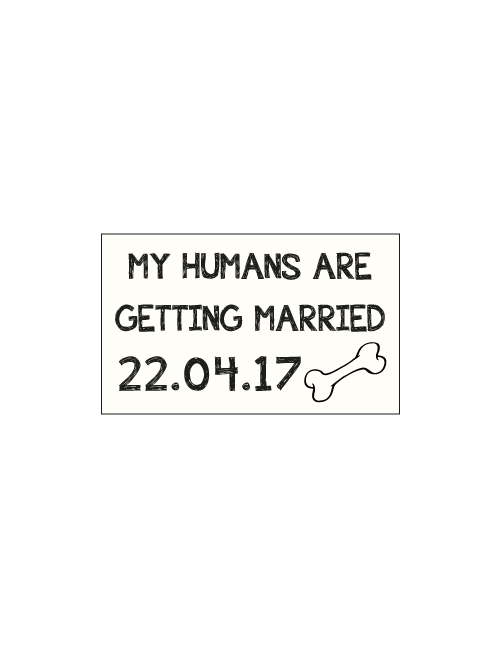 Save The Date Sign - Dog Sign