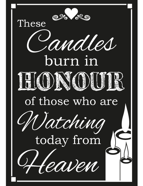 Candle Sign - Black