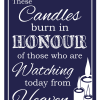 Candle Sign - Navy