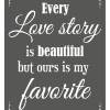 Love Story Sign - Charcoal
