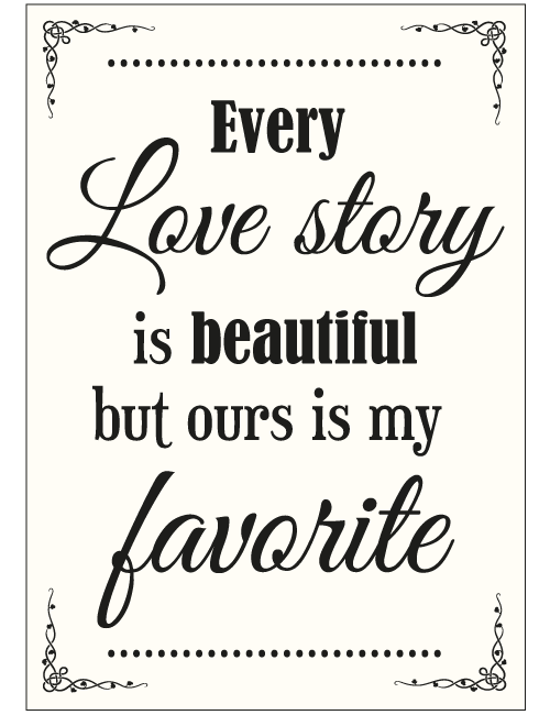 Love Story Sign - Ivory