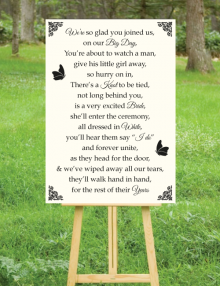 Our Big Day Sign - Ivory