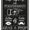 Photobooth Sign - Black