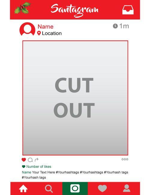santagram personalised instagram frame