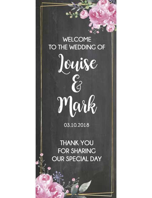 wedding roll up banner