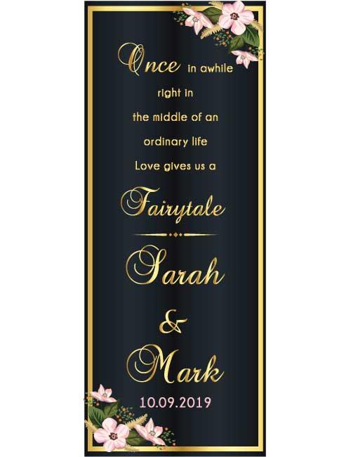 wedding roll up banner