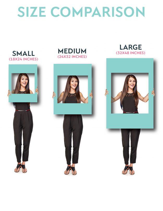 selfie frame size comparison