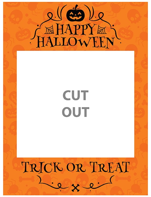 halloween party selfie frame