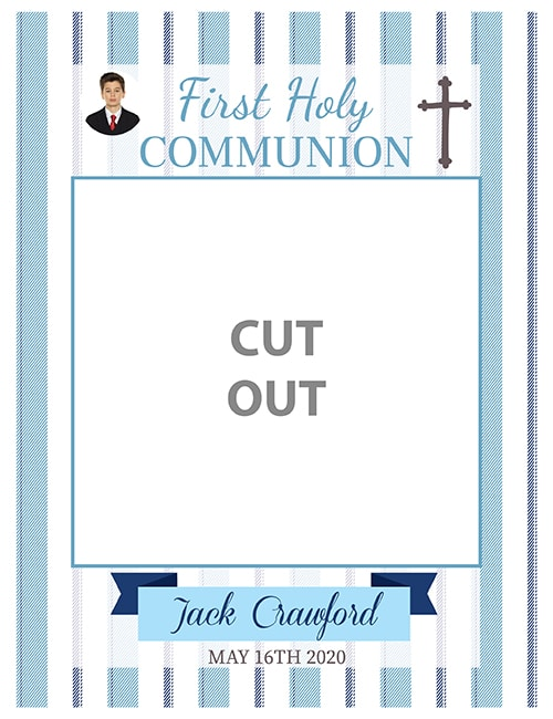 First Holy Communion Frame - Blue