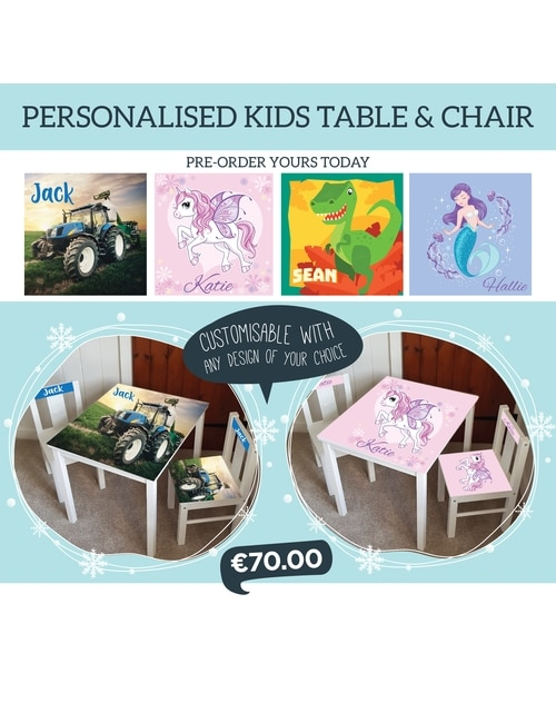 Personalised children's table and chair
