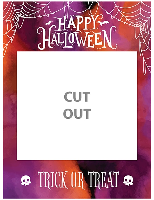 Halloween selfie frame