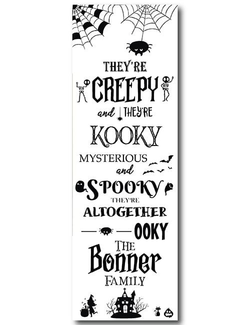 Halloween door sign white