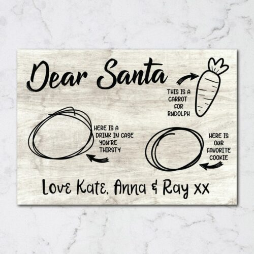 personalised santa placemat