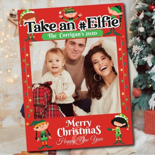 Take an elfie photo frame