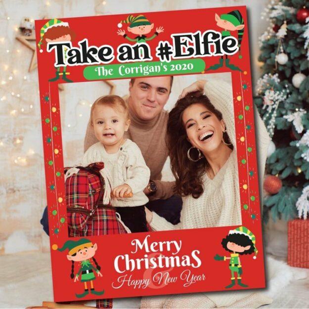 Take an elfie photo frame