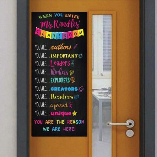 classroom door sign
